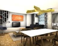 Vue 3D, Salon / Salle à manger